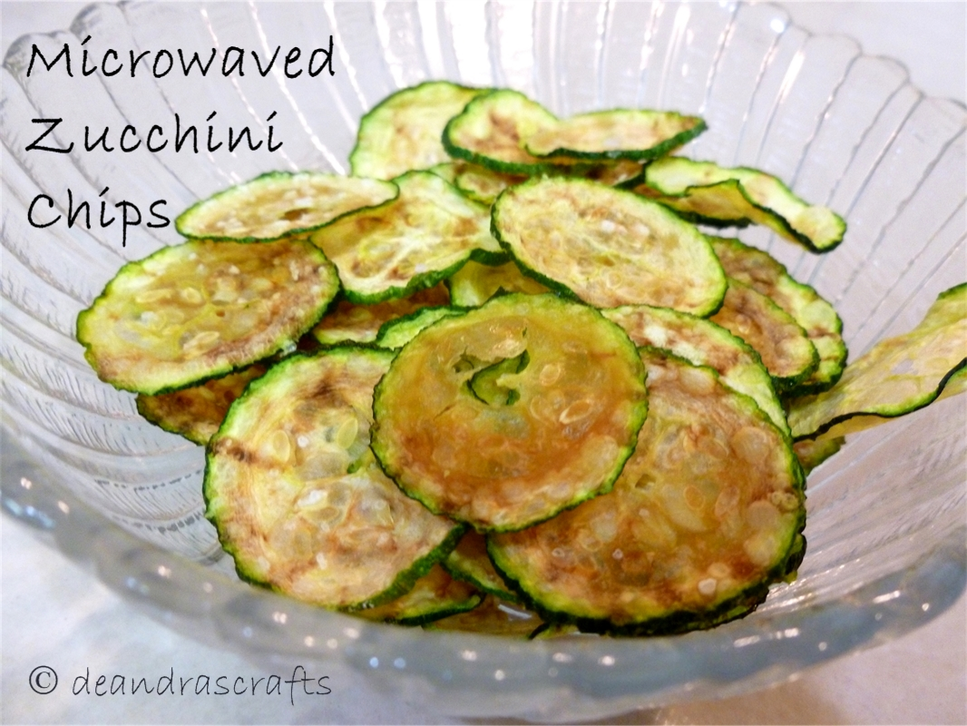 Microwaved Zucchini Chips