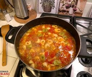 香肠意大利式饺子汤