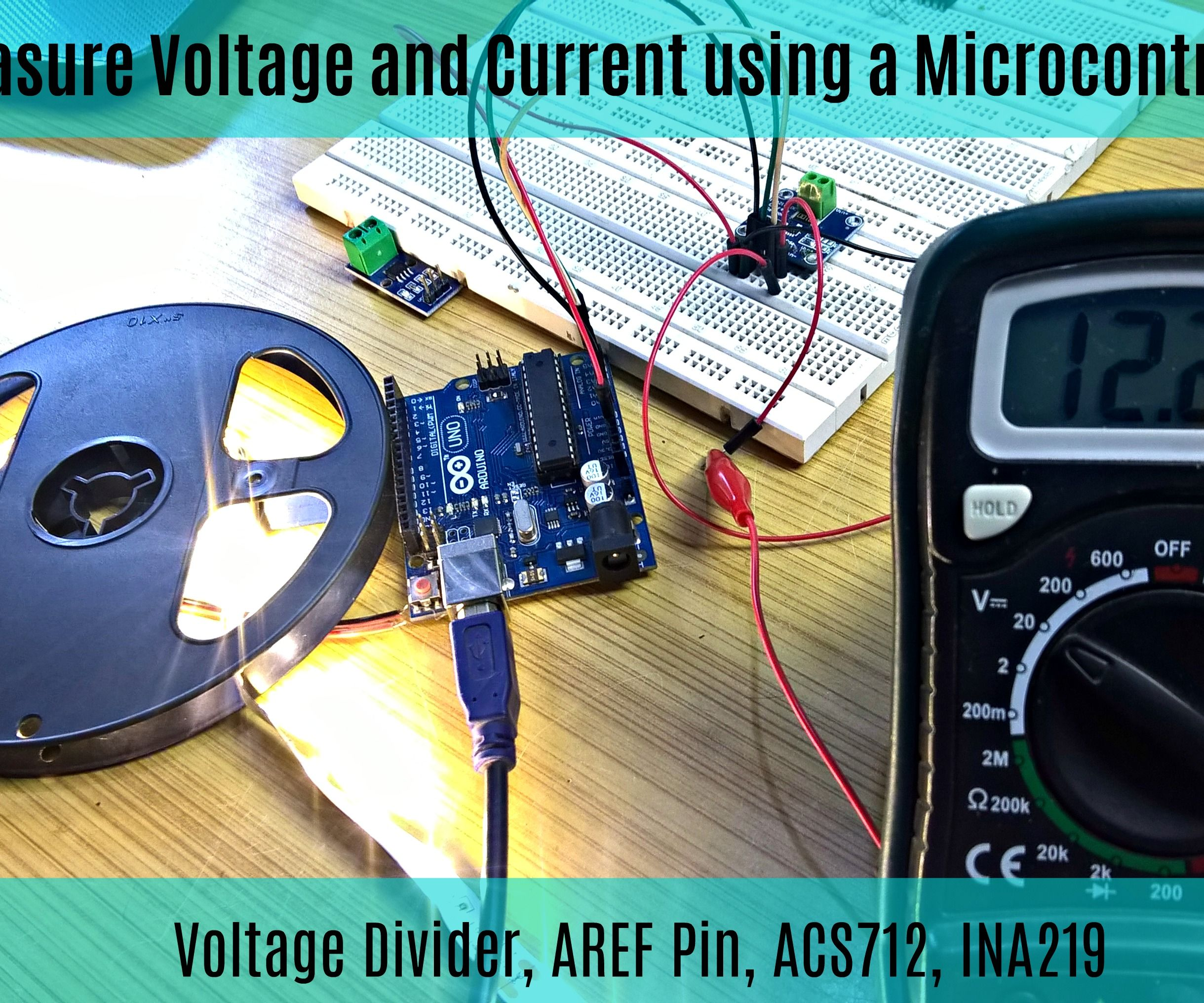 Measure Current and Voltage Using a Microcontroller || Voltage Divider || ACS712 || INA219