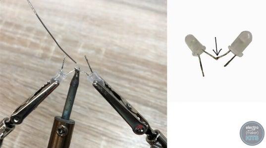 Preparing LEDs for the Ears (optional):