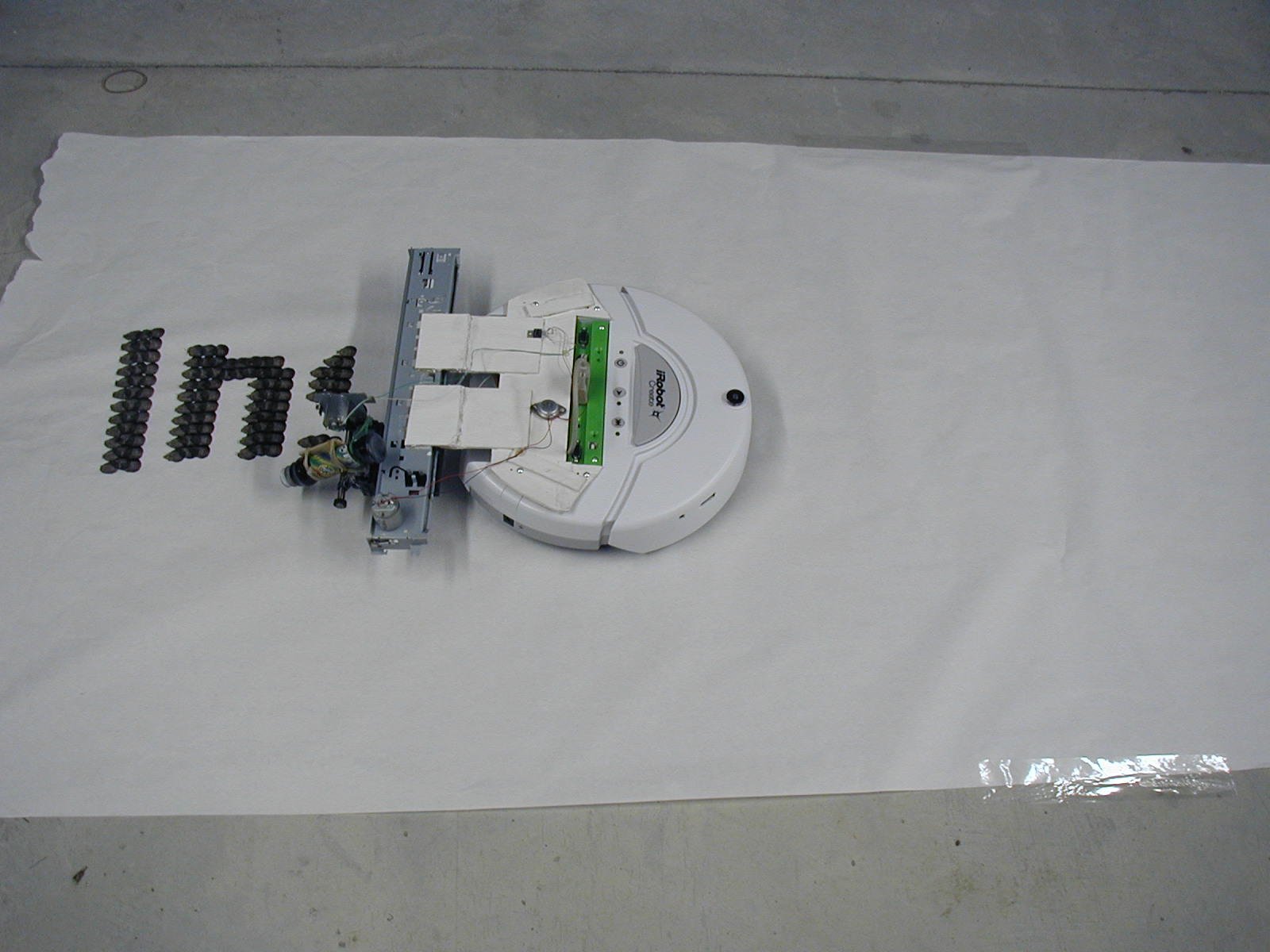 PosterBot: Make a Marker-Writing Robot out of an Old Inket printer and an iRobot Create