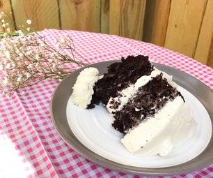 Dark Chocolate Layer Cake With Rose Buttercream
