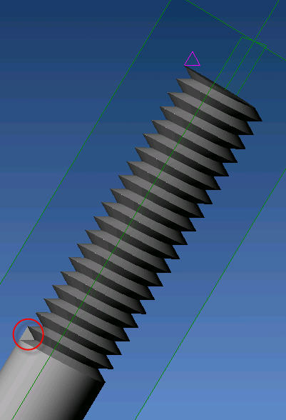 Alibre Design and External Threads (Method 1)