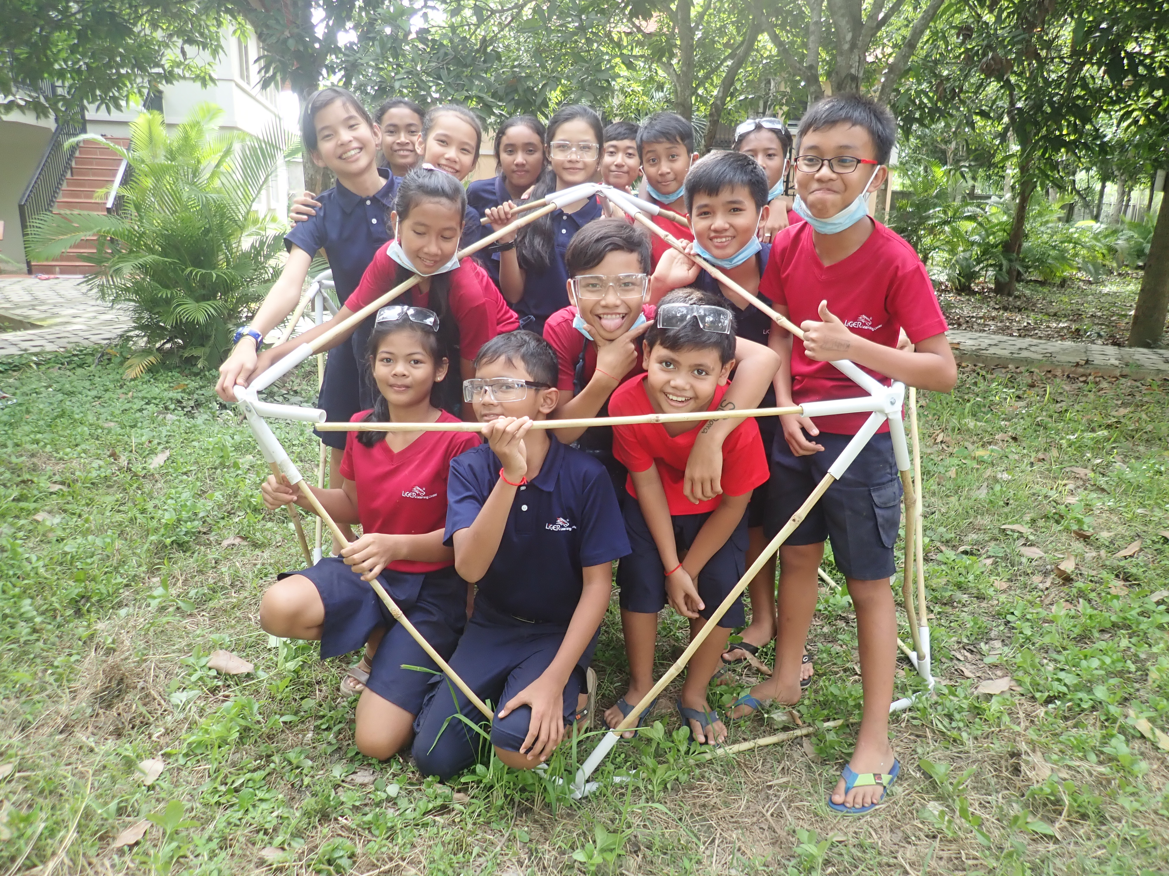 Kid Friendly Bamboo Geodesic Dome