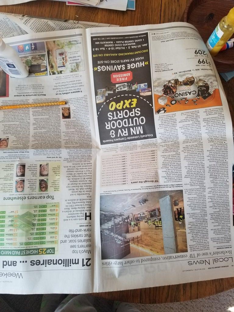 Cut Up Newspaper