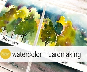 Painting Custom Cards With Watercolors