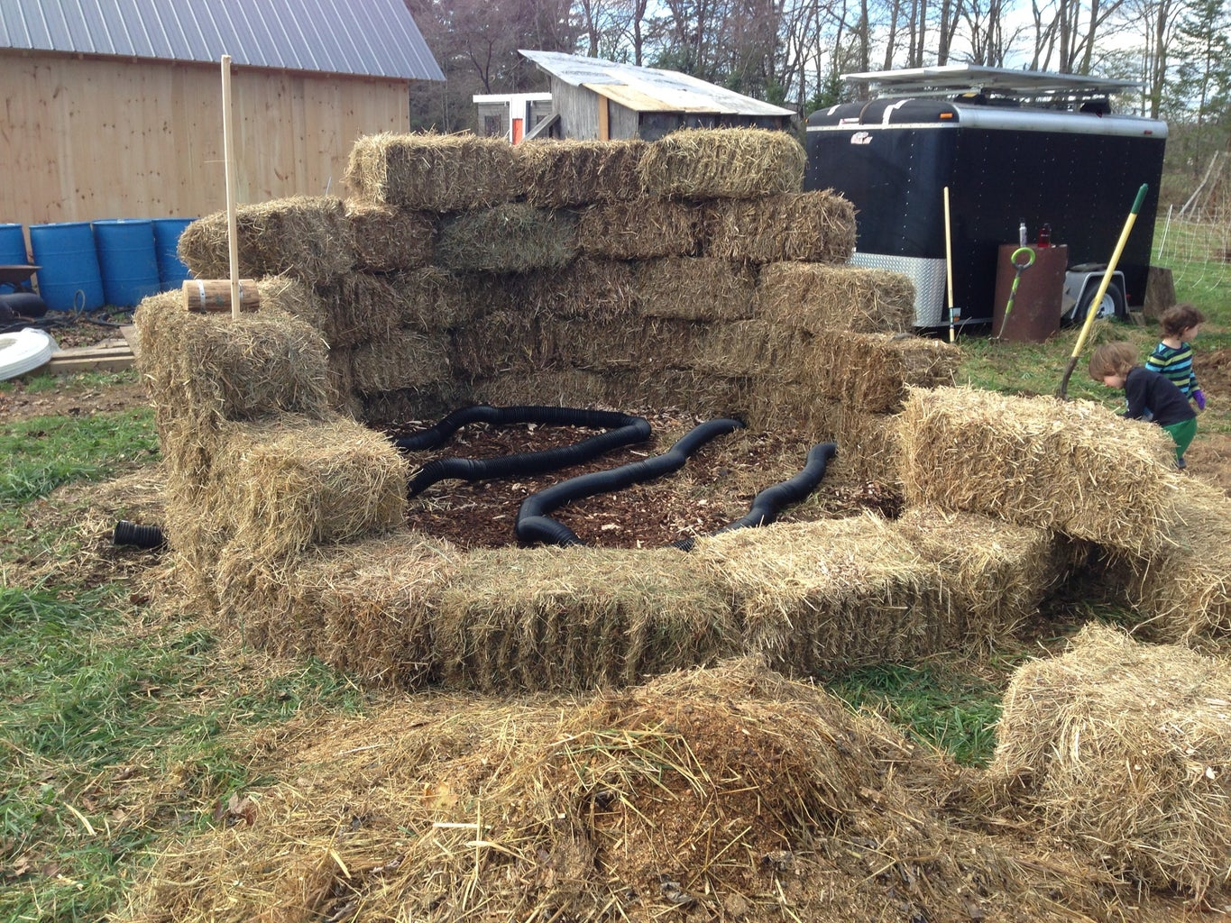Create a Hay Bale Backstop + Add Aeration