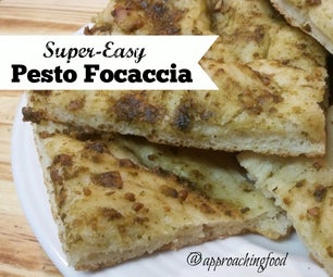 Super-Quick Pesto Focaccia