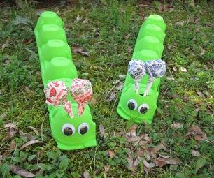Summer Crafts for Kids: Egg Carton Caterpillar
