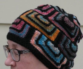 Stained Glass Modular Knitting - Simple Hat