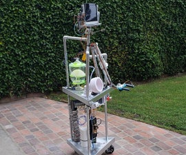 Telepresence Robot With Gripper Arm