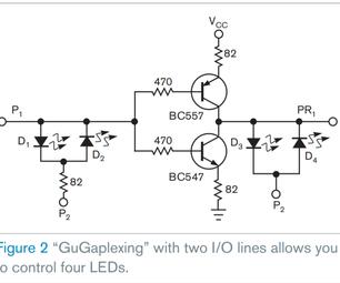 Gugaplexing 24 LEDs Using 4 Pins