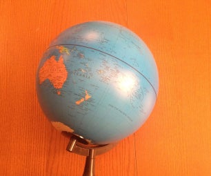 Earth Globe Rotating With Arduino or Raspberry Pi Controlled Stepper Motor