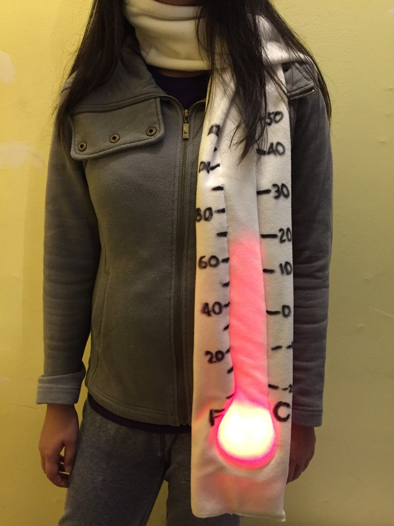 Neopixel Giant Thermometer Scarf