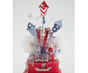 4th of July Sparkly Table Arrangement Tutorial