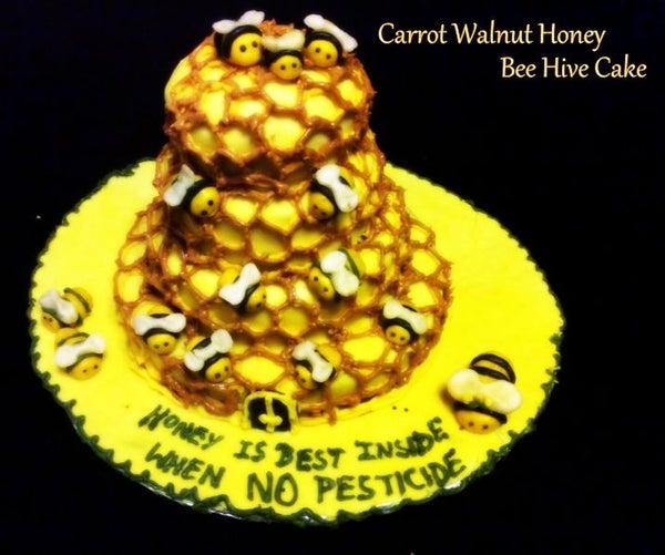 The Carrot Walnut Honey Bee Hive Cake