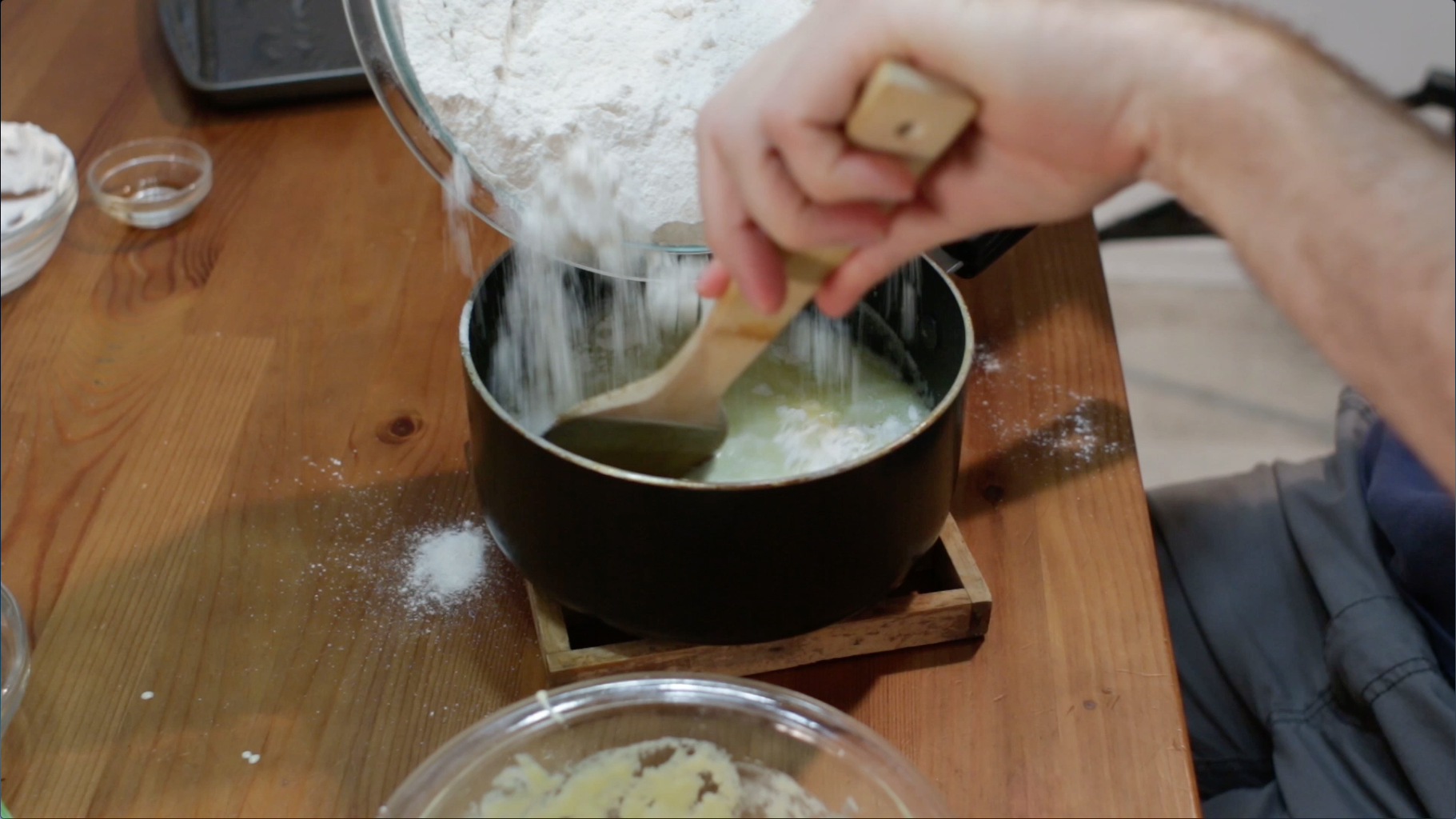 Flour and Egg Mixture