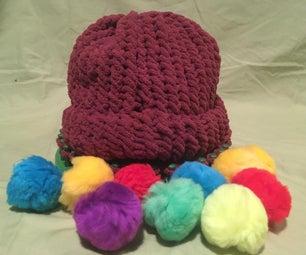 用织机编织帽子