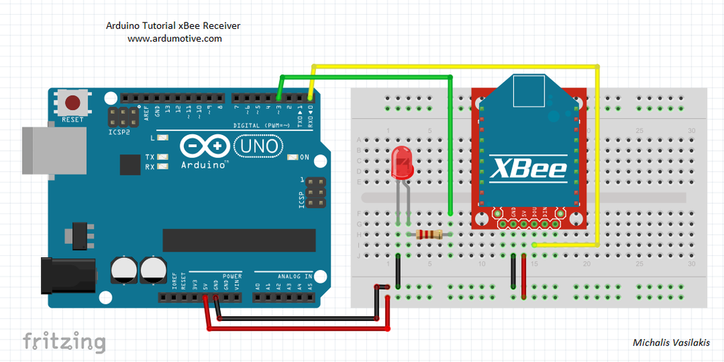 How to Use XBee Modules As Transmitter & Receiver - Arduino Tutorial : 5  Steps - Instructables | Xbee Wiring Diagrams |  | Instructables