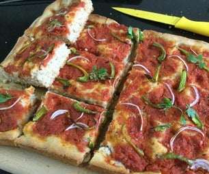 Pizza Focaccia With Homemade Sauce