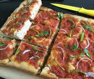 披萨Focaccia与自制酱汁