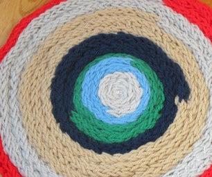 如何制作自己的法国针织地毯