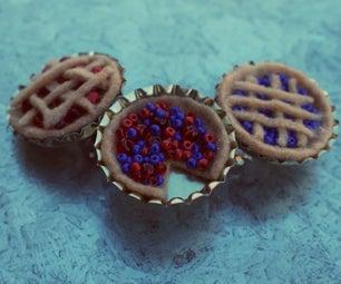 Tiny Felt Pies