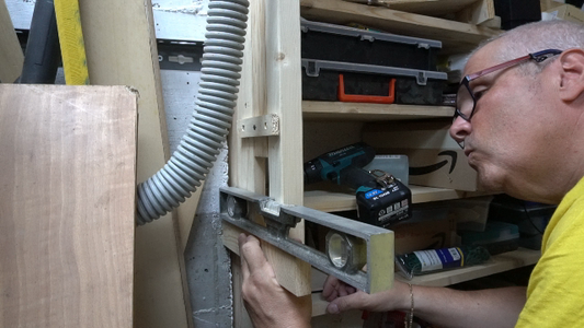 Step 1: We Measure and Fix Support Bracket