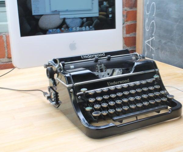 Prepping Underwood Typewriter for USB Conversion