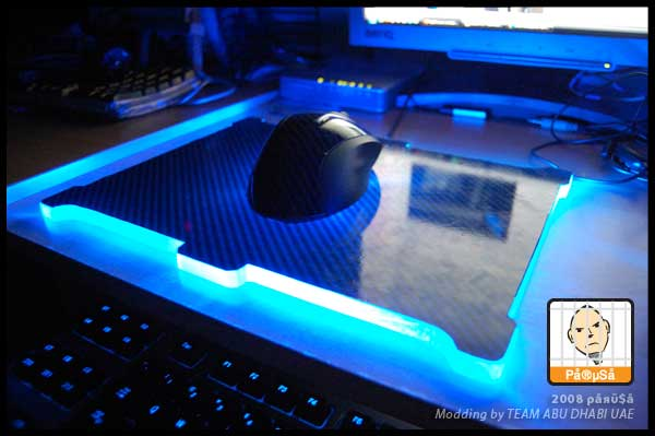 DIY Glowing mouse pad