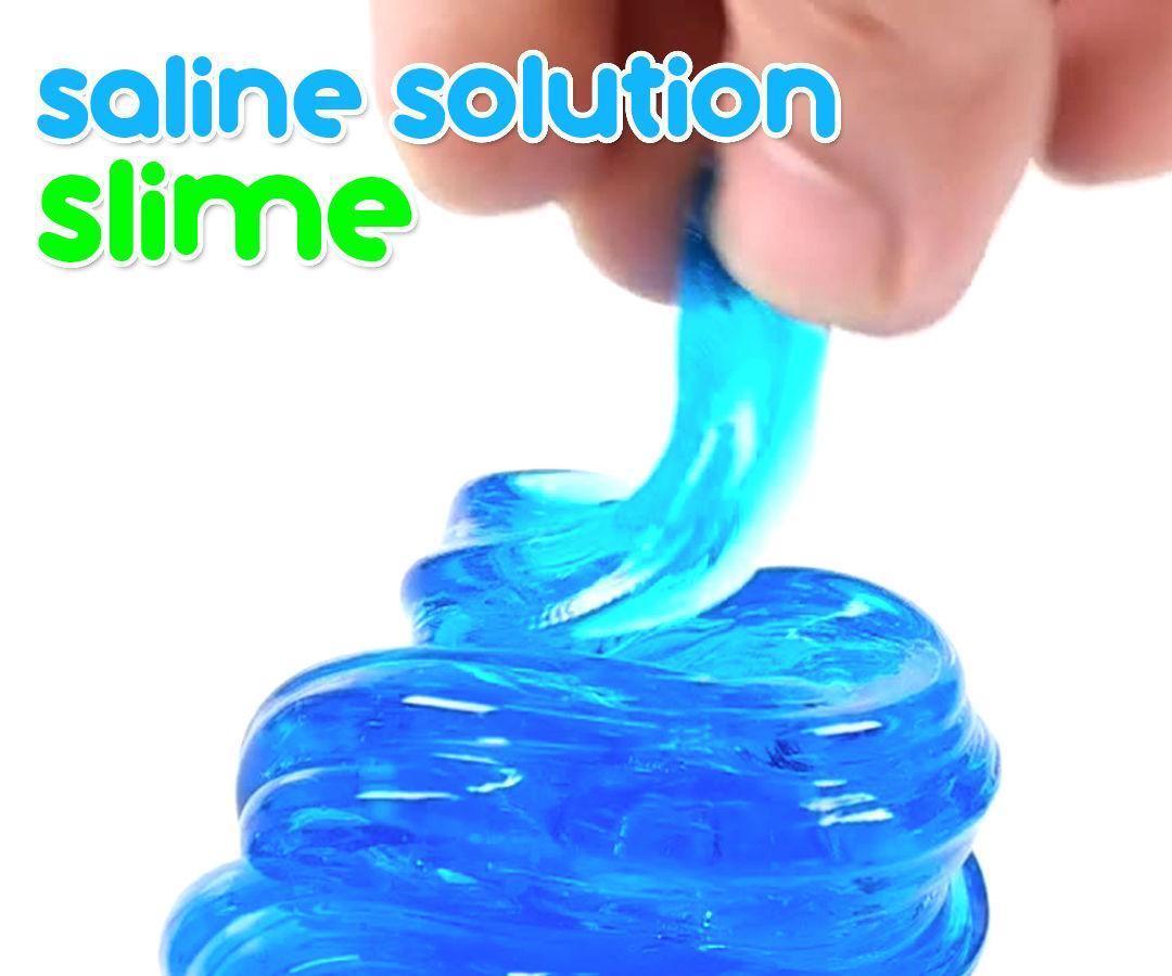 Saline Solution Clear Slime !!