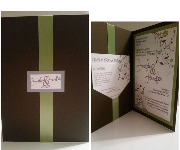 Handmade Pocketfold Wedding Invites