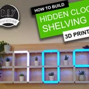 How to Build a Giant Hidden Shelf Edge Clock