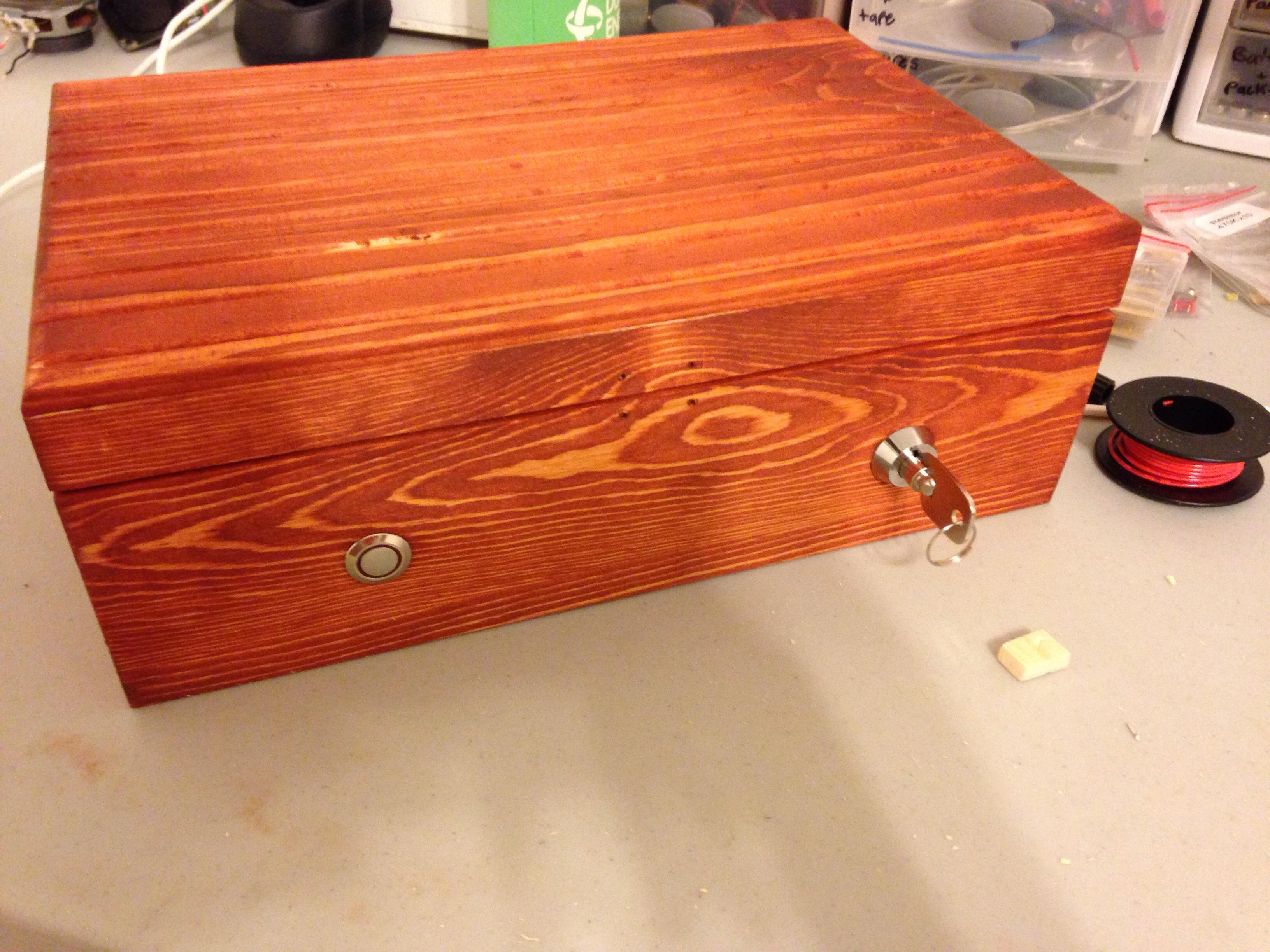 Wooden Lockbox With Key Access
