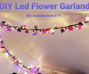 DIY Led Flower Garland