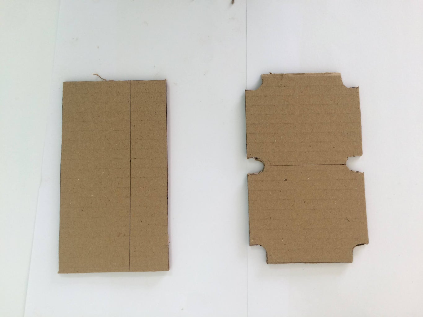Mini Pool/Billiards: Cutting Out the Cardboard Pieces for the Structure