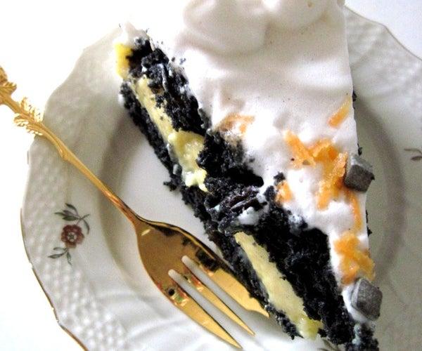 Licorice Cake With Orange Filling