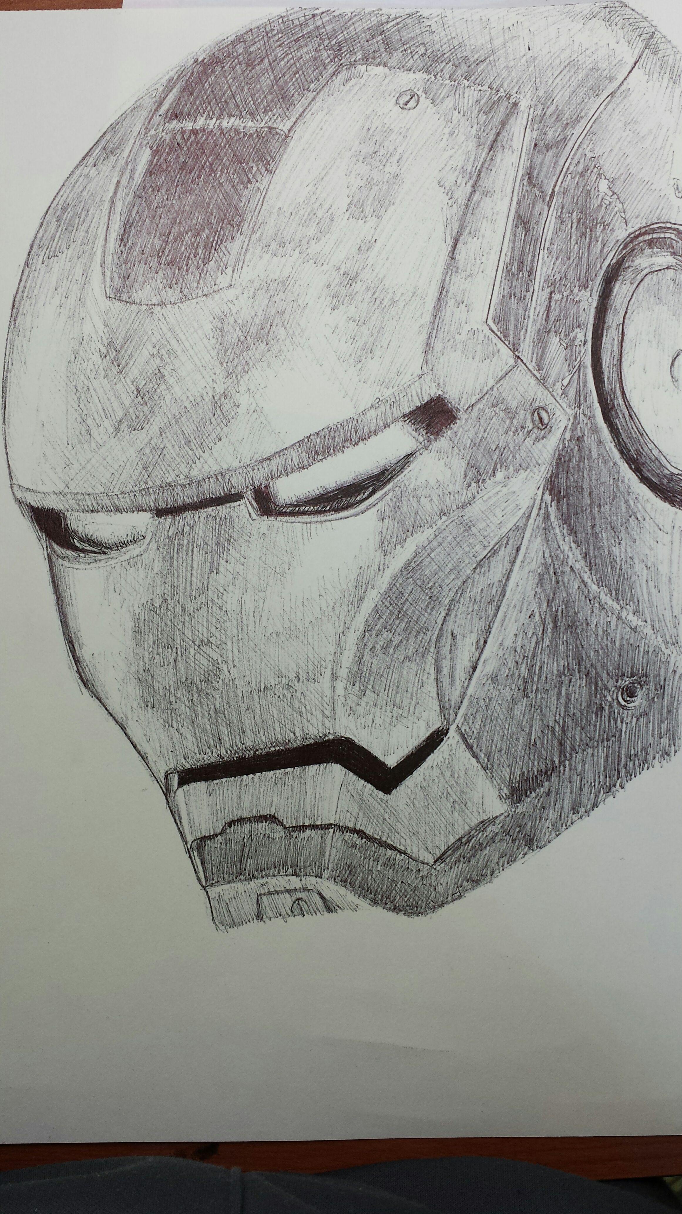 Iron Man Pen Drawing