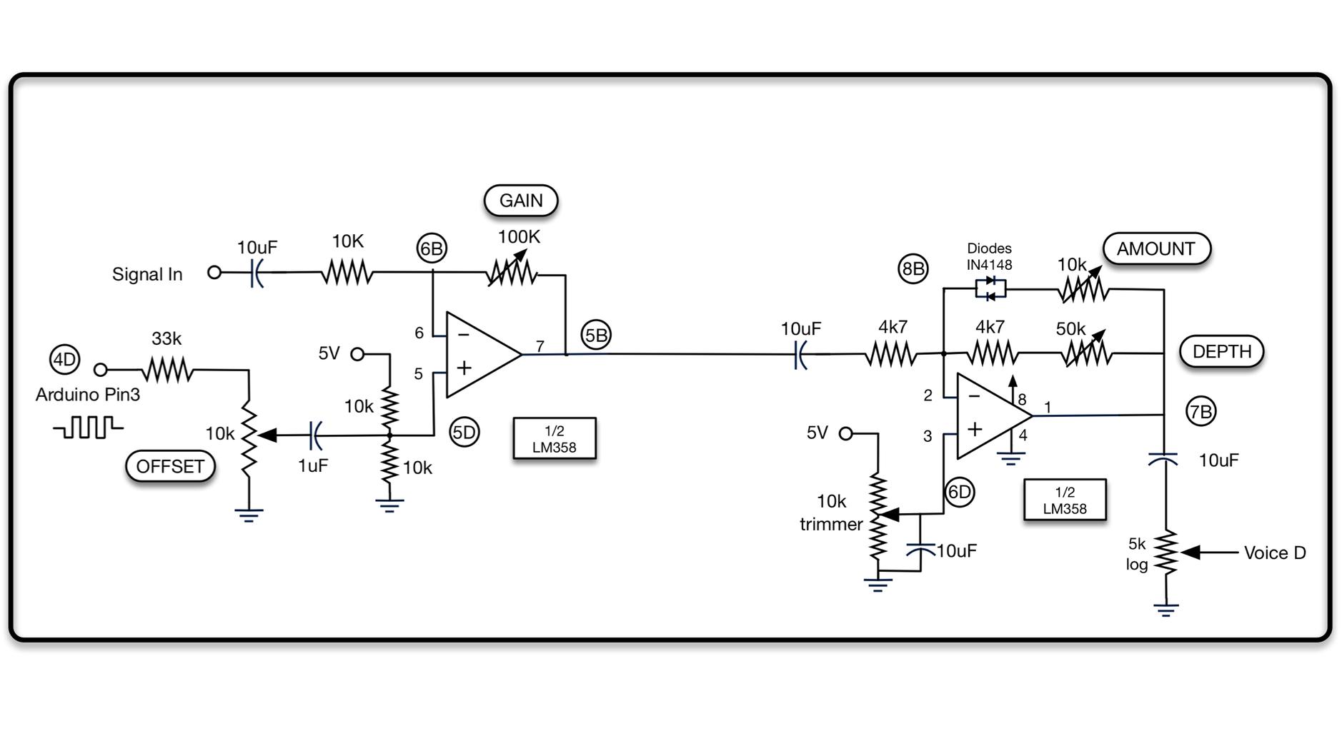 Analog Input Fuzz Box With Arduino Effect