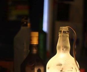 Glass Bottle Pendant Lamp