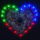 LED Heart With a Vibrating Motor