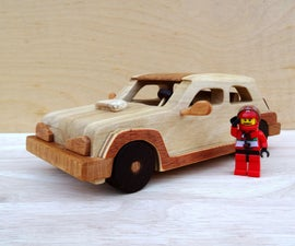 How to Make a Renault Turbo Car Out of Wood