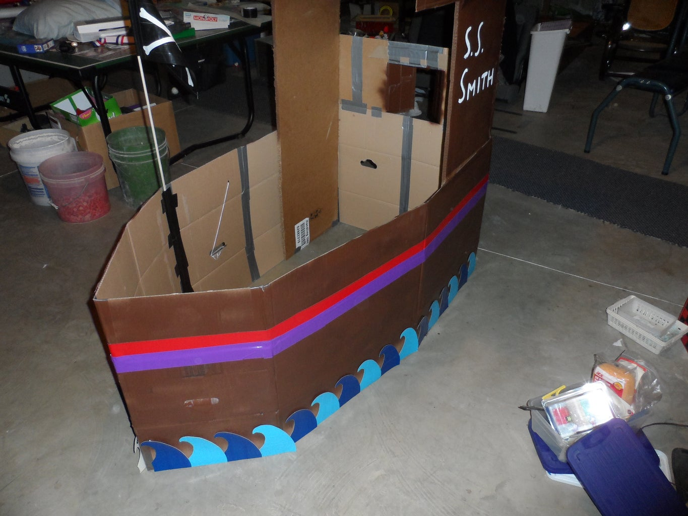 Duct Tape and Cardboard Boat!