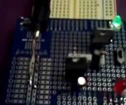Breadboard Power Supply with a Slide Switch for Selecting Voltage
