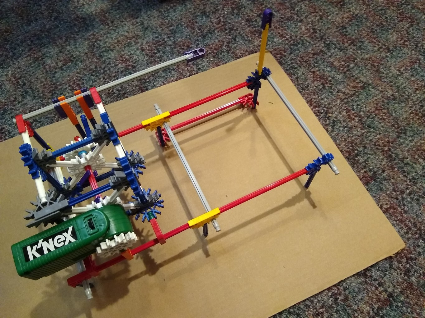 Attach the Motor/Yoke Assembly to the Origami Support Frame