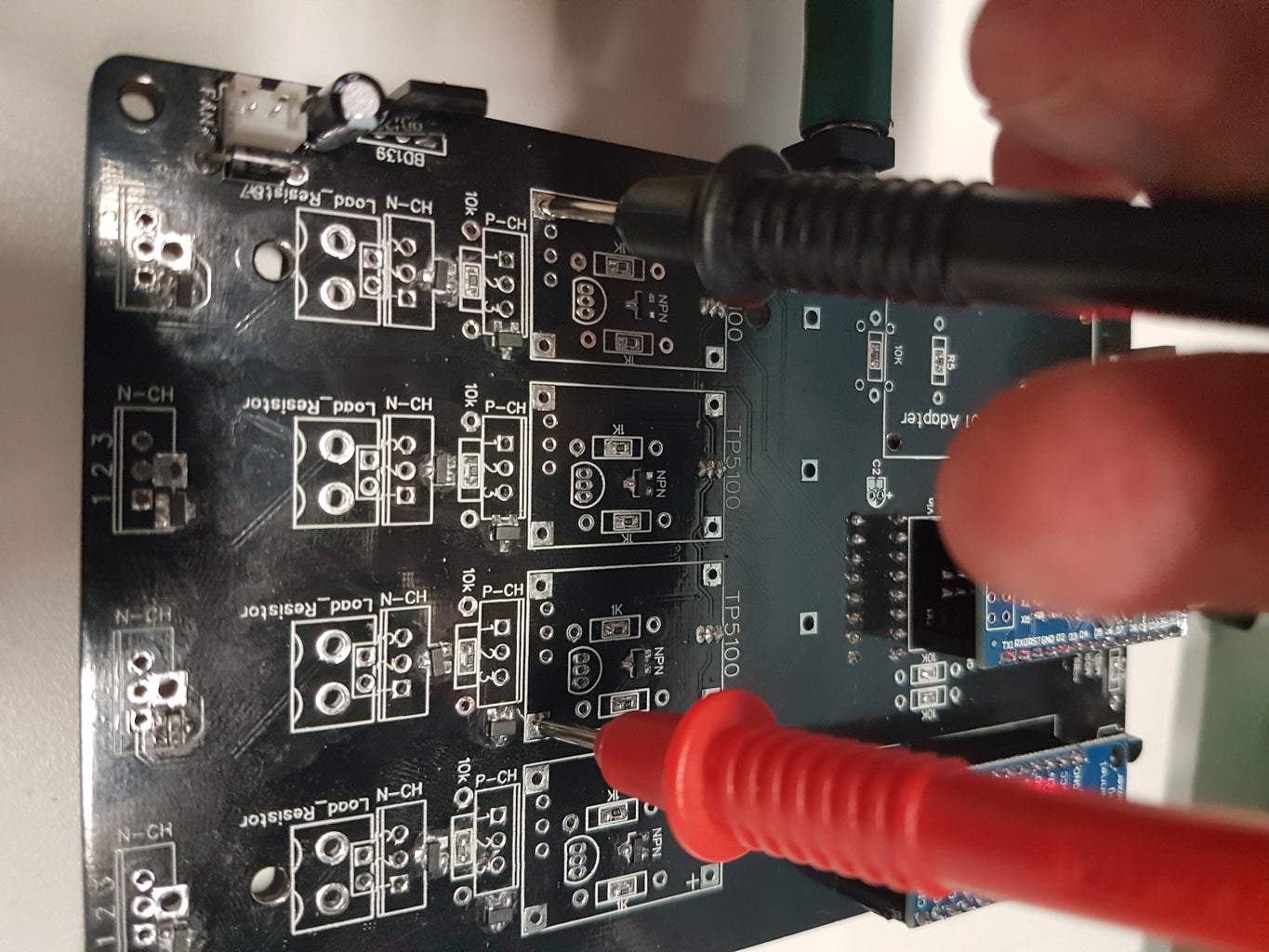 Testing the MOSFETs