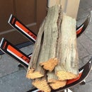 Repurposed Ski- Firewood Rack