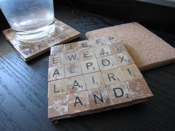 Scrabble Tile Coasters