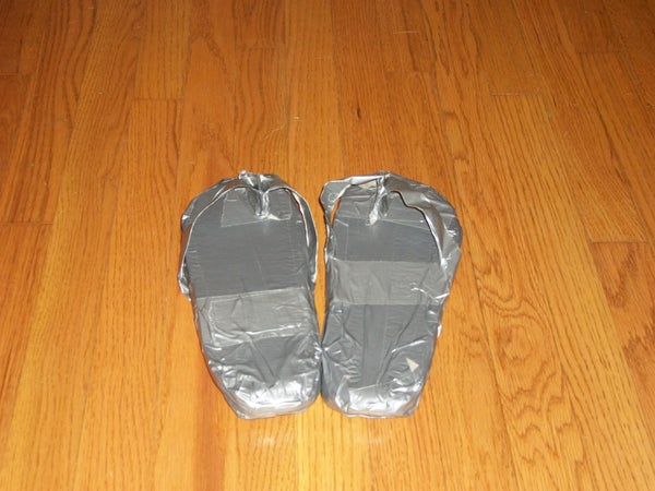 Comfortable Duct Tape Sandals