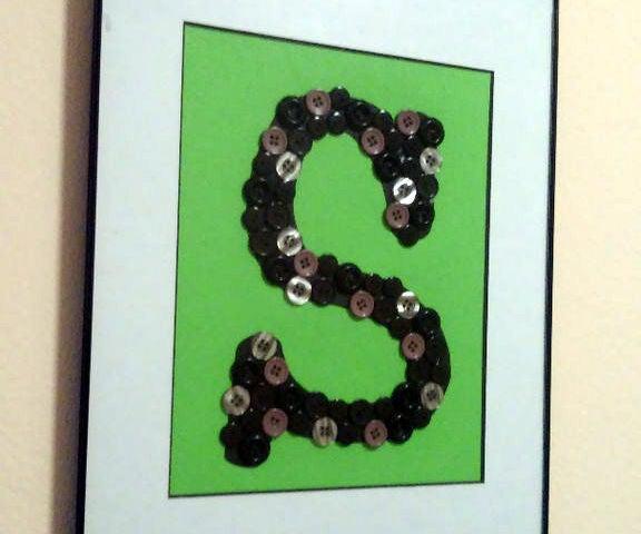 Button Letter Art